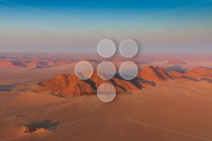 Aerial view of mountains sanddunes Sosusvlei - Popular Stock Photos