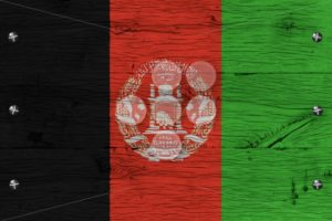 Afghanistan national flag painted old oak wood fastened - Popular Stock Photos
