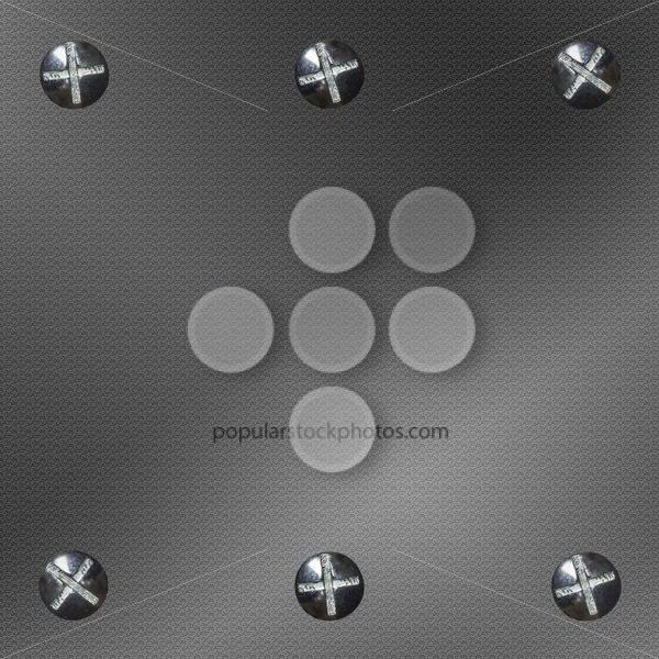 Background metal six bolts – Popular Stock Photos