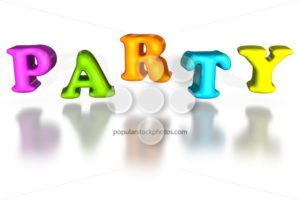 Balloon inflated letters party colorful 3d - Popular Stock Photos