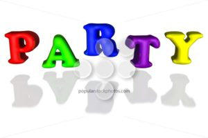 Balloon inflated letters party colorful primary 3d - Popular Stock Photos