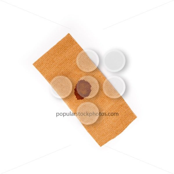 Band aid dried blood isolated white – Popular Stock Photos