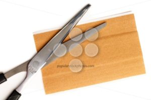 Band aid strip scissors isolated white - Popular Stock Photos
