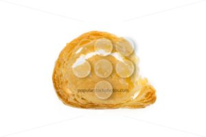 Banketstaaf small slice Sinterklaas isolated - Popular Stock Photos