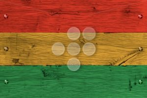 Bolivia civil flag painted old oak wood fastened - Popular Stock Photos