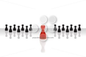 Business concept leader forward red black grouped gradient - Popular Stock Photos