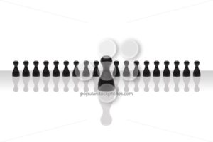 Business concept leader step forward group small black gradient - Popular Stock Photos