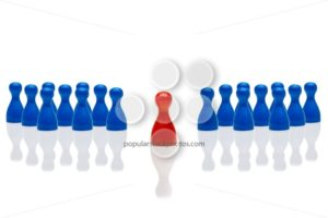 Business concept leadership step forward red group blue - Popular Stock Photos