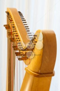 Celtic harp close-up with angle - Popular Stock Photos