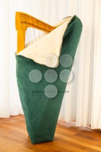 Celtic harp unpacking - Popular Stock Photos