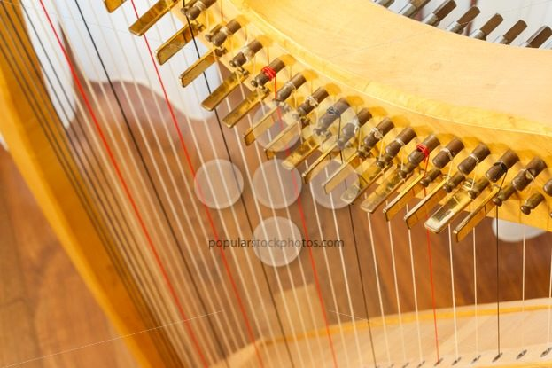 Celtic harp view from top – Popular Stock Photos