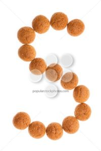 Character letter S pepernoten isolated - Popular Stock Photos