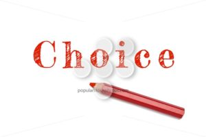 Choice lined written red pencil - Popular Stock Photos