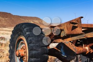 Close up car wreck desert - Popular Stock Photos