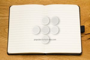 Close up empty pages notebook copy space - Popular Stock Photos