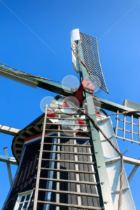 Close up head of historic windmill The Netherlands - Popular Stock Photos