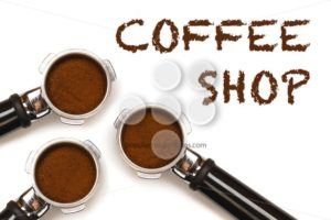 Coffee Shop text three pistons - Popular Stock Photos