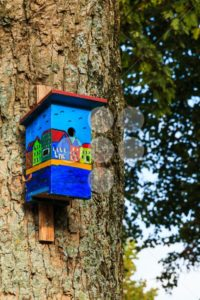 Colorful birdhouse canal houses view bottom - Popular Stock Photos