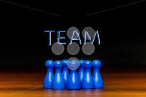 Concept blue team, teamwork, collaboration chalk text - Popular Stock Photos