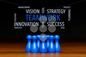 Concept blue teamwork text cloud - Popular Stock Photos