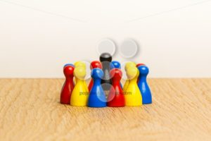 Concept bright leader, leadership and adoration circle pawns - Popular Stock Photos