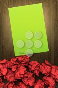 Concept brilliant or good idea red green paper - Popular Stock Photos