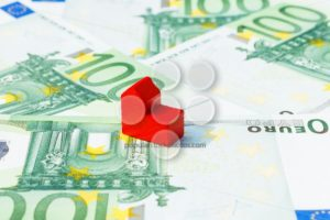 Concept church loan income euro red - Popular Stock Photos