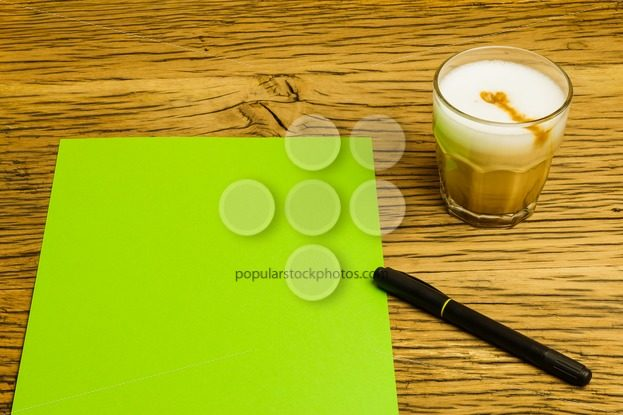 Concept empty green page idea coffee – Popular Stock Photos