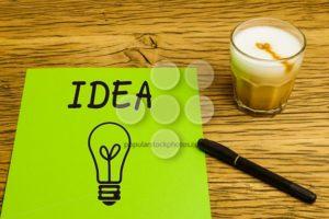 Concept empty green page idea coffee - Popular Stock Photos