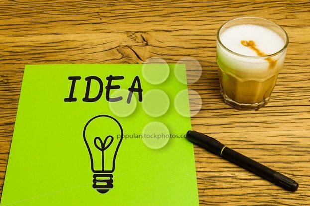 Concept empty green page idea coffee – Popular Stock Photos