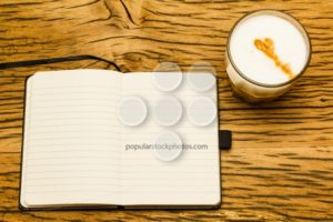 Concept empty notebook start day - Popular Stock Photos