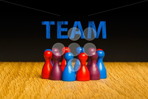 Concept for team blue red purple text – Popular Stock Photos