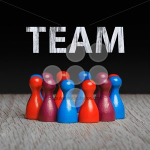 Concept for team blue red purple text chalk gray - Popular Stock Photos