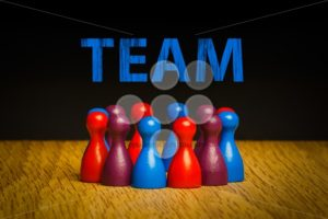 Concept for team blue red purple text spotlight - Popular Stock Photos