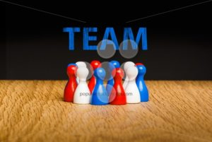 Concept for team red white blue chalk text blue - Popular Stock Photos