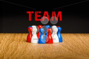 Concept for team red white blue chalk text red - Popular Stock Photos