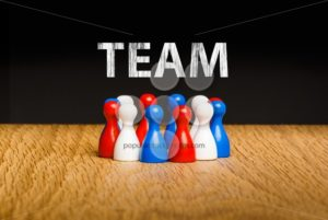 Concept for team red white blue chalk text white - Popular Stock Photos