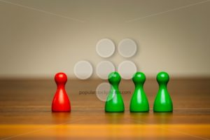 Concept good bad, isolation, confrontation, competition - Popular Stock Photos