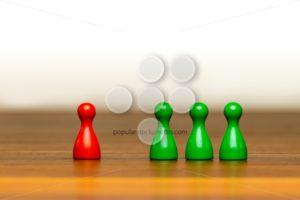 Concept good bad, isolation, confrontation white background - Popular Stock Photos