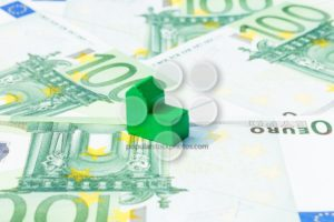 Concept house, bill, income, salary euro - Popular Stock Photos