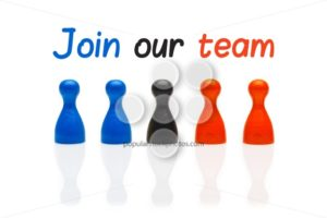 Concept join our team pawn three color - Popular Stock Photos