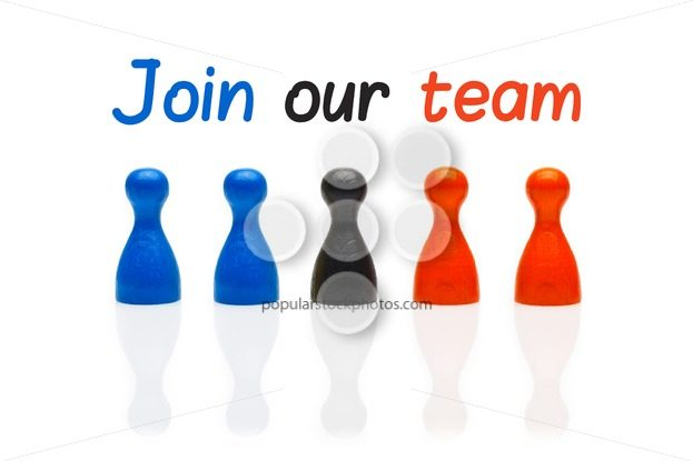 Concept join our team pawn three color – Popular Stock Photos