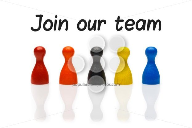 Concept join our team pawn white – Popular Stock Photos