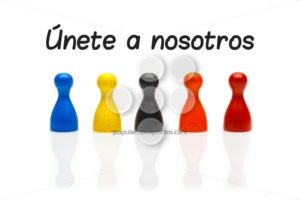 Concept join our team pawn white spanish - Popular Stock Photos