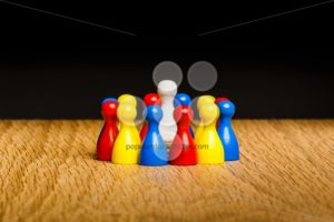 Concept leader, leadership and adoration circle pawns - Popular Stock Photos