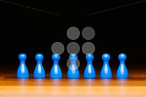 Concept team, business, organization, blue and black - Popular Stock Photos