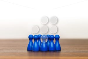 Concept team, group, friends, blue and white - Popular Stock Photos