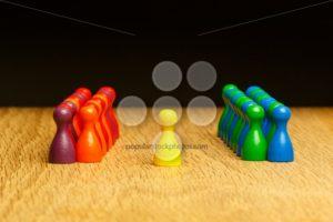Concept team, leader, leadership, adoration yellow pawn - Popular Stock Photos