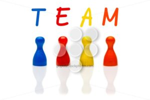 Concept team, teamwork, organization colored - Popular Stock Photos