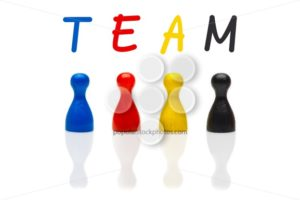 Concept team, teamwork, organization primary color black - Popular Stock Photos